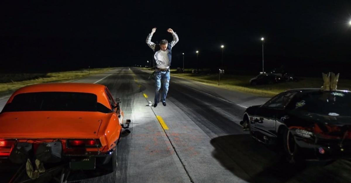 A race beginning on 'Street Outlaws.'