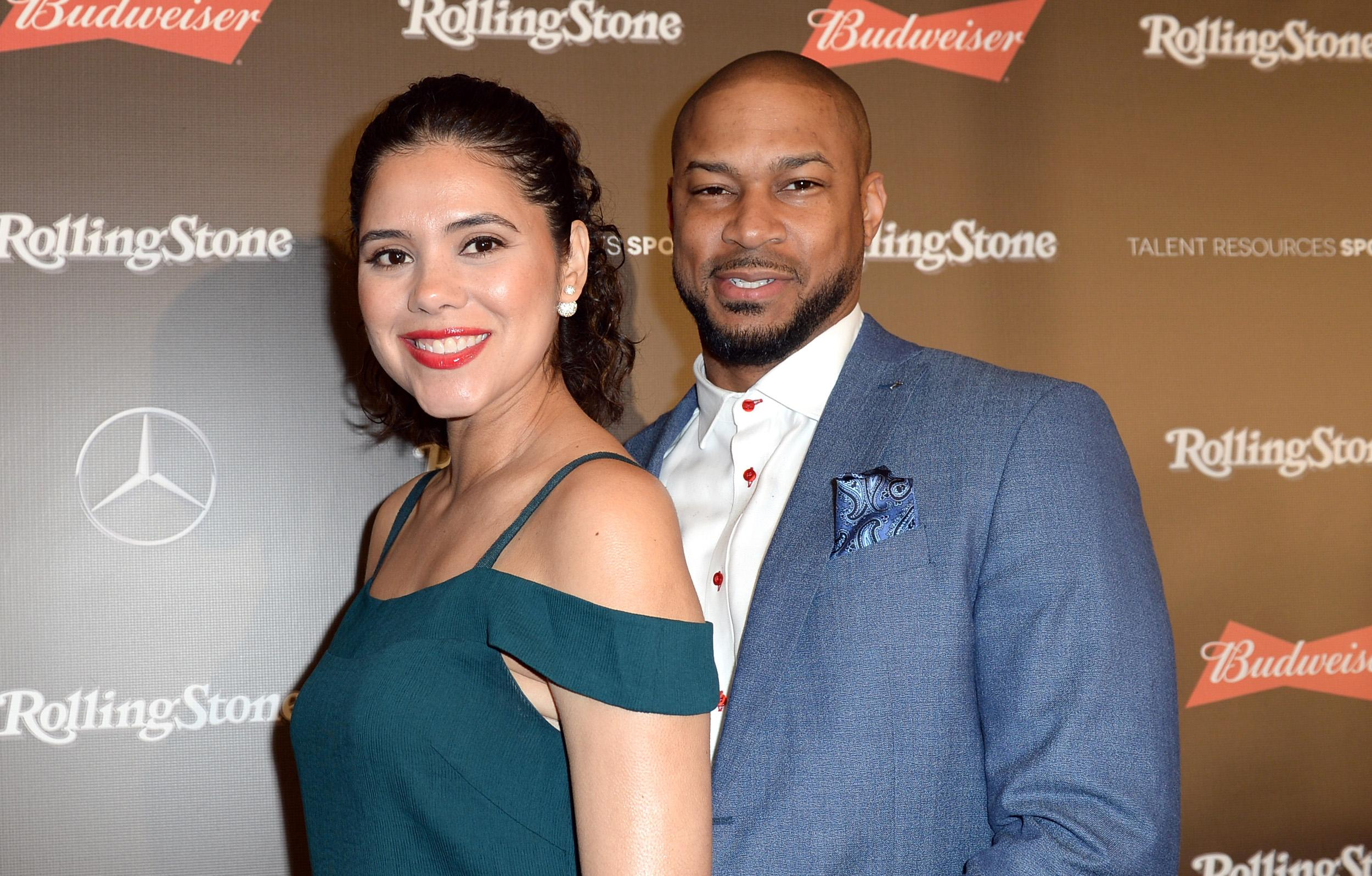 Finesse Mitchell and wife Adris Debarge
