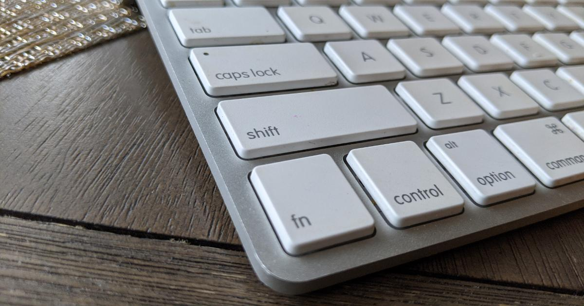 Wireless Mac bluetooth keyboard.