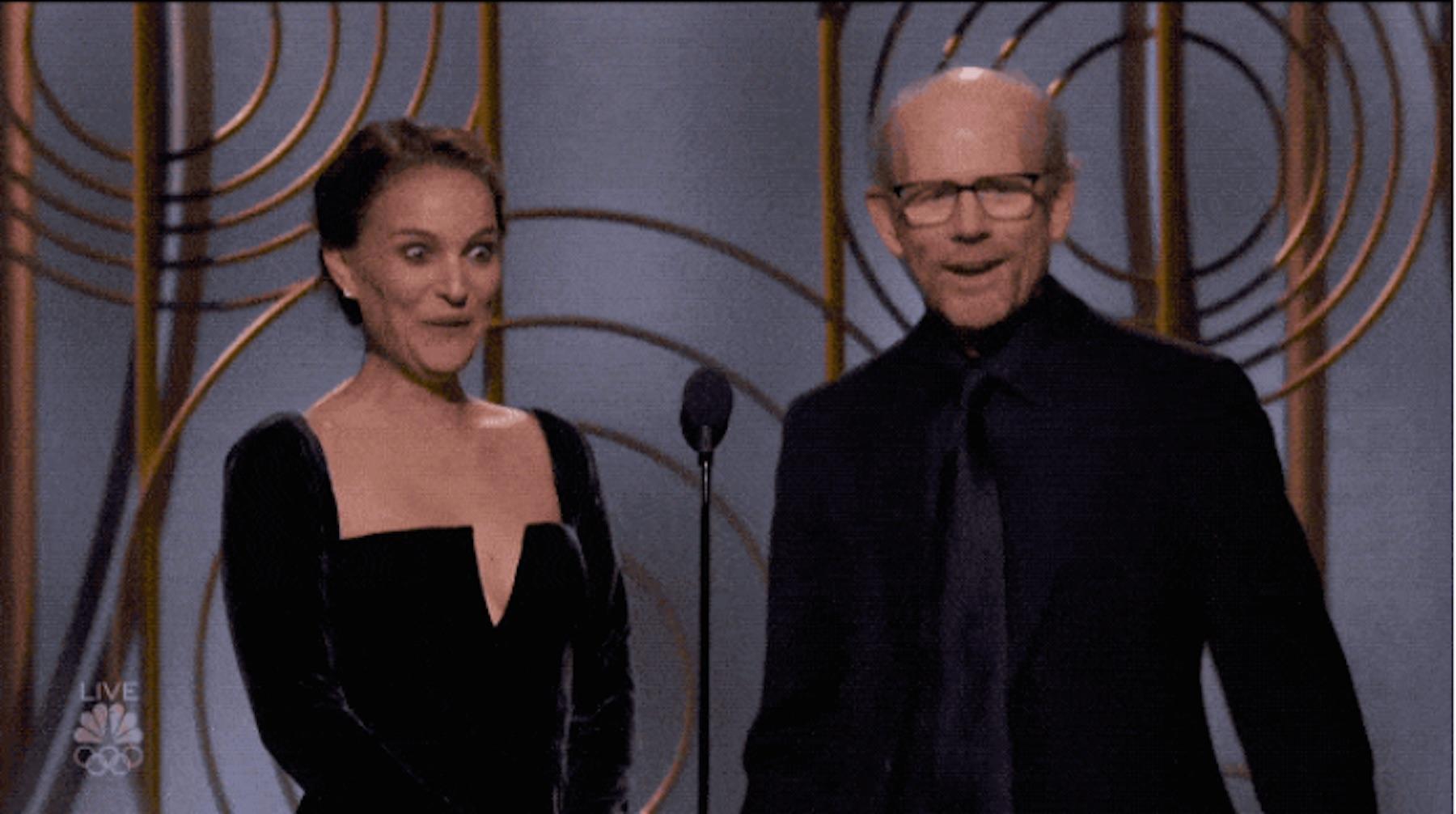 Natalie Portman and Ron Howard