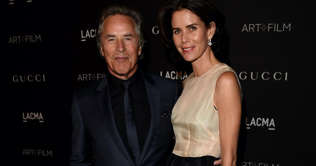 Don Johnson and Wife Kelley Phleger