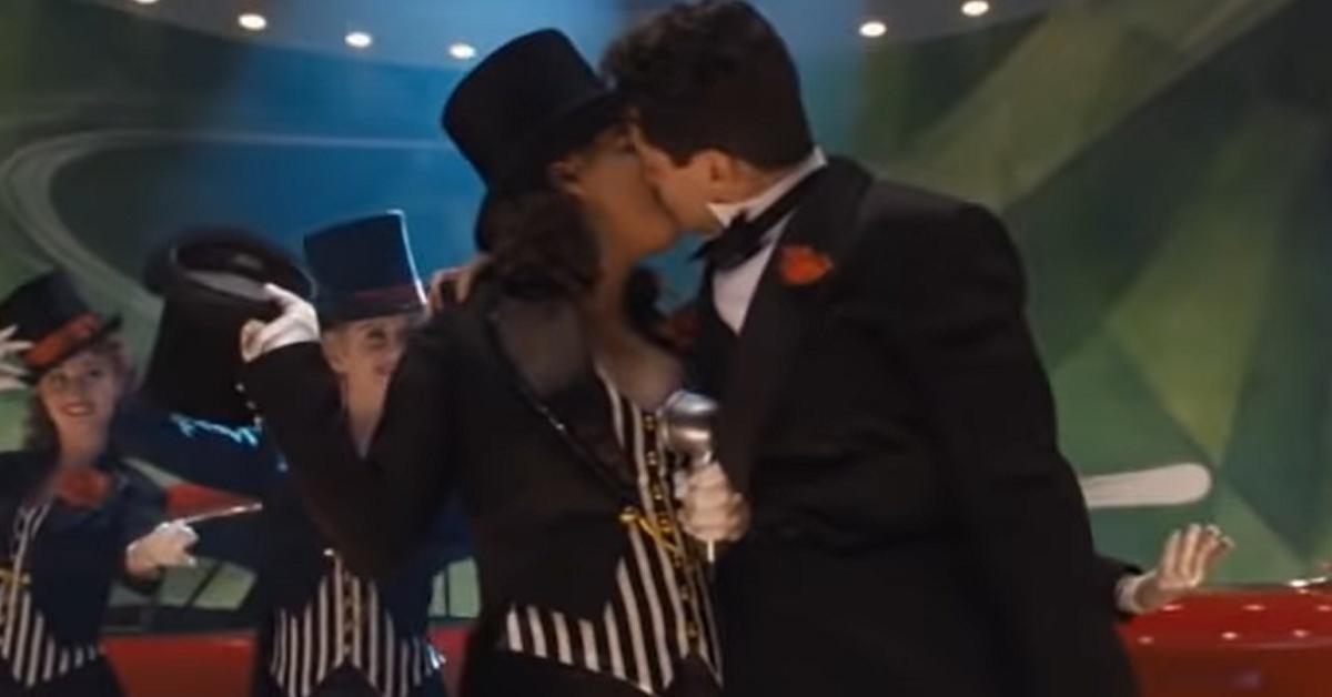 Captain America kisses Howard Stark
