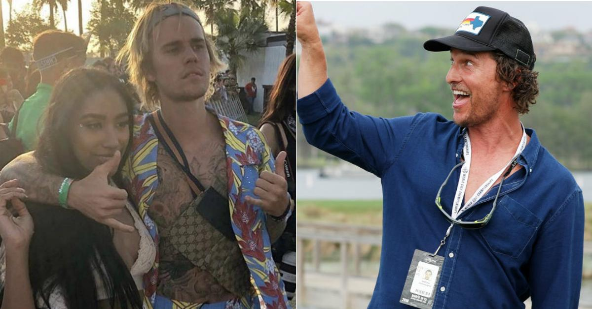 Justin Bieber and Matthew McConaughey