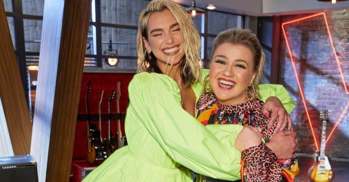 Dua Lipa and Kelly Clarkson
