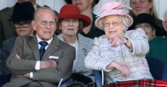 Prince Philip and Queen Elizabeth photographed candidly.
