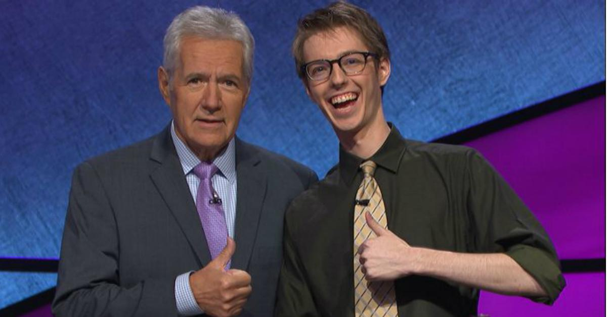 Ryan Fenster and Alex Trebek