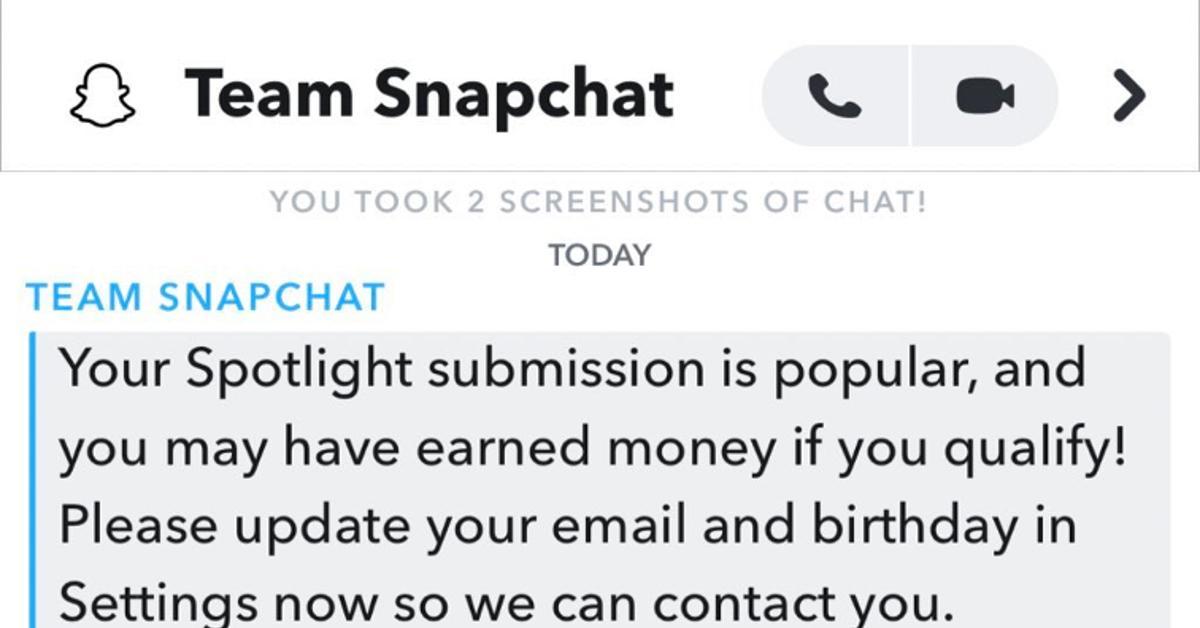 Snapchat聚光灯