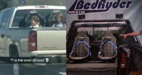 Viral Video Showing Kids Riding In Pickup Truck Bed Is Actually Legal