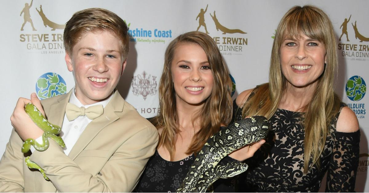Terri, Bindi, and Robert Irwin