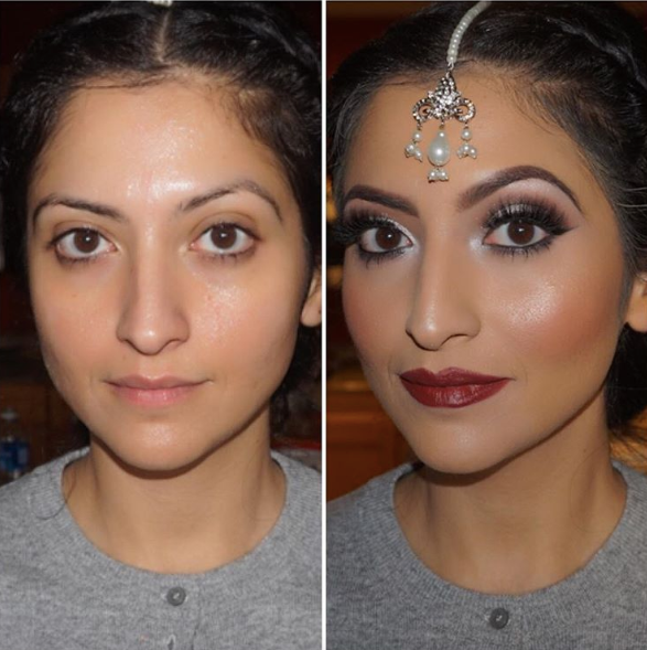 These Bridal Makeup Before-and-After Photos Are Straight-up