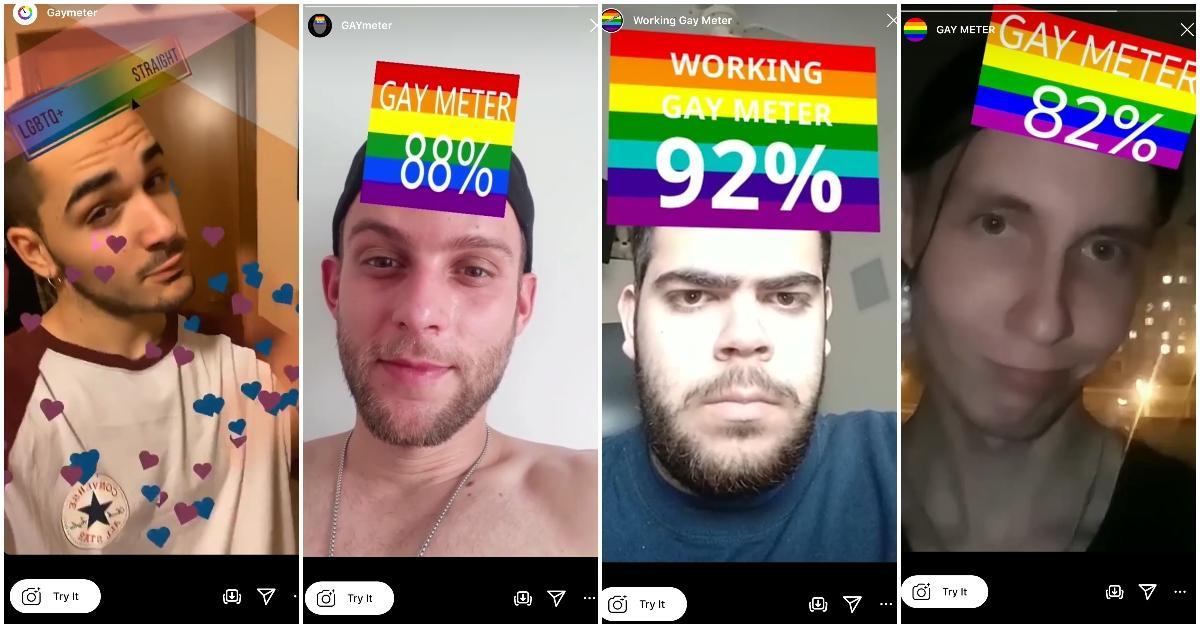 gay meter instagram effect
