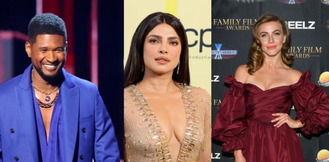 Usher, Priyanka Chopra Jonas, Julianne Hough