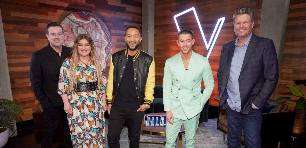 'The Voice' coaches and host
