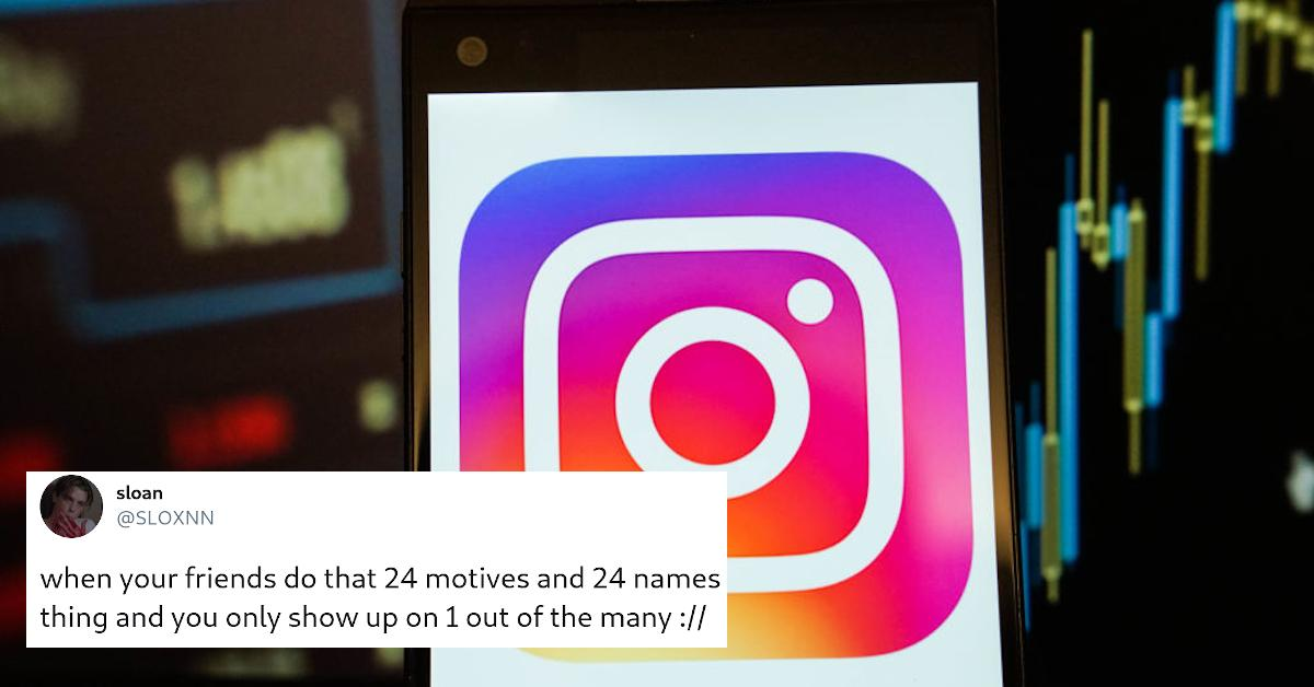People Are a Bit Confused by the '24 Names 24 Motives' Instagram Challenge