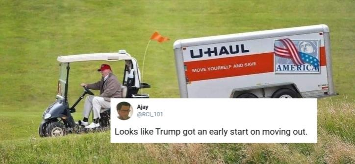 The Memes About Trump Leaving The White House Are Totally On Point