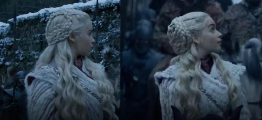 Resultado de imagem para daenerys hair change s8 episode 1