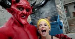 who plays satan in match com commercial