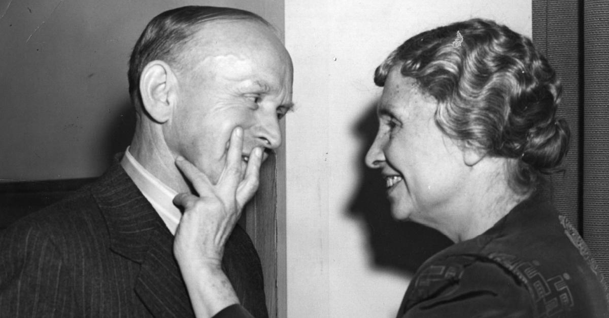 Helen Keller with Wilfred Paling