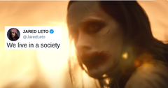Jared Leto tweets 'We Live in a Society' meme.