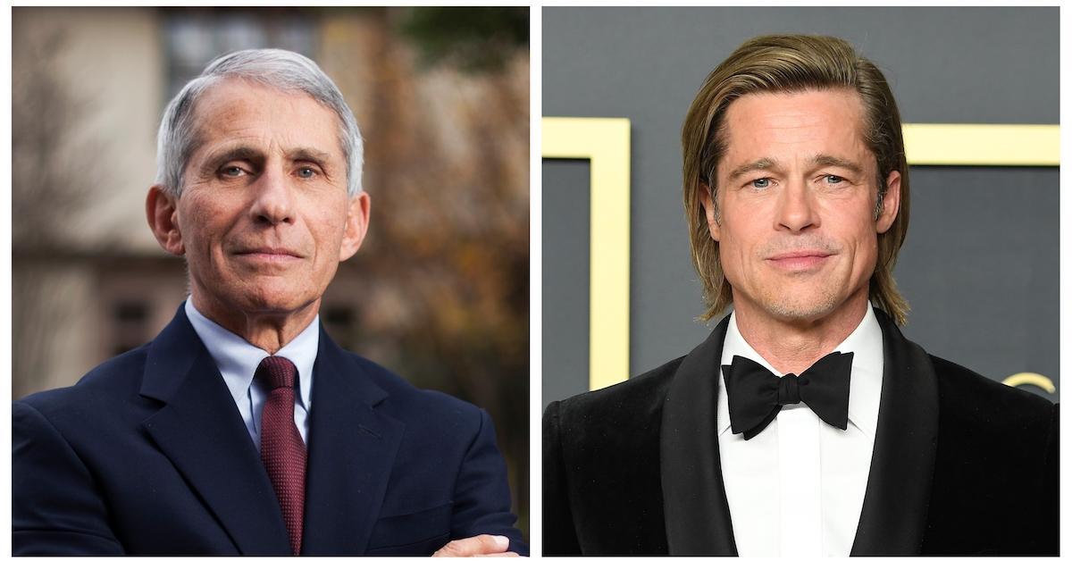 安东尼Fauci和Brad Pitt