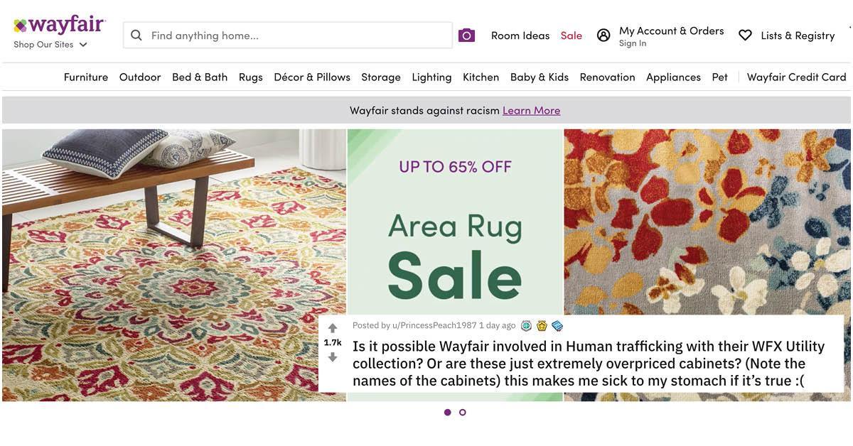 Wayfair Accused Of Child Trafficking, Wayfair Baby Furniture