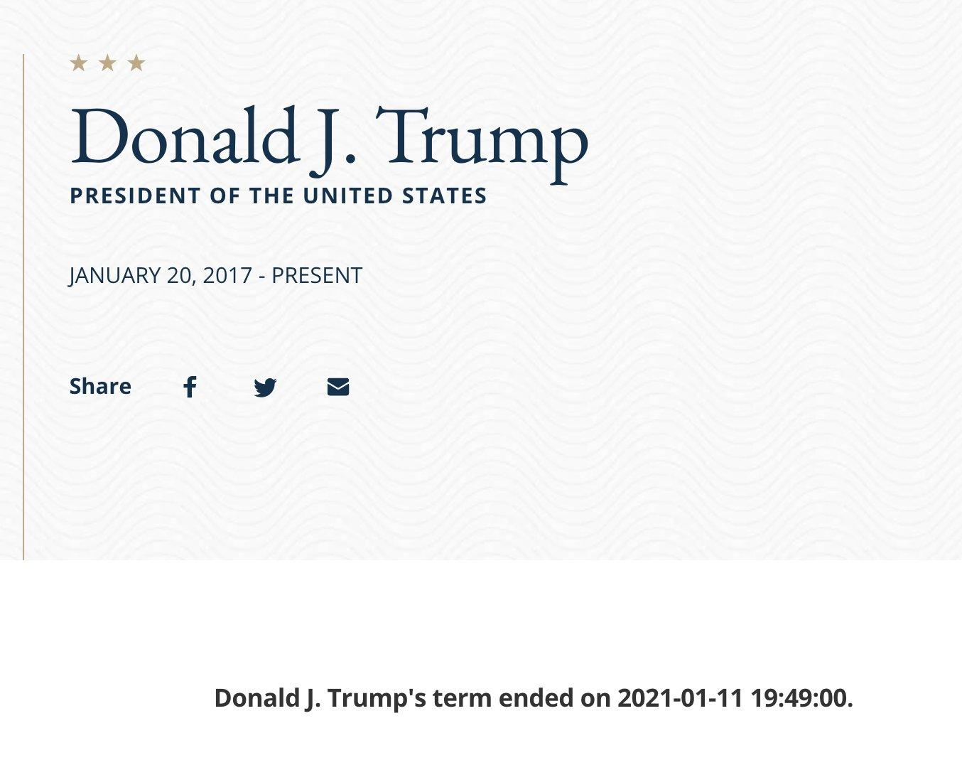 president trump resign