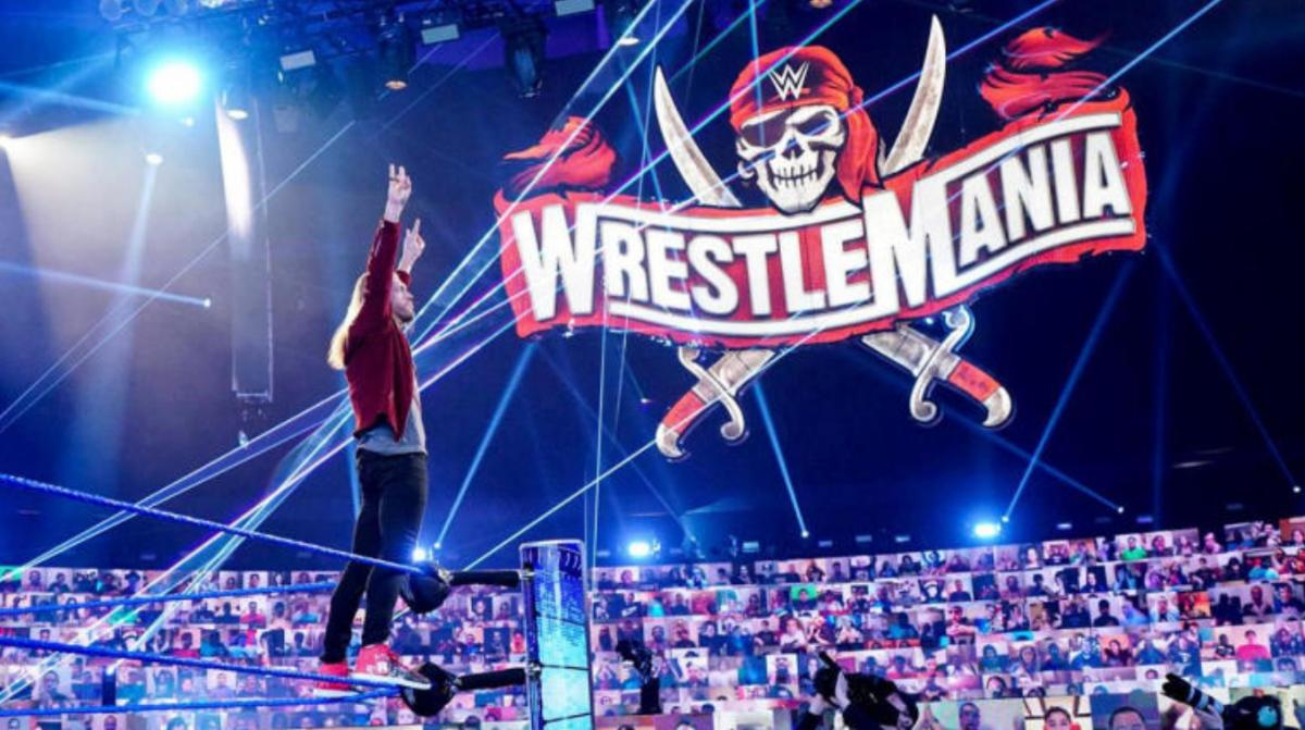 The wrestler Edge signaling that he will be appearing at WrestleMania 37.