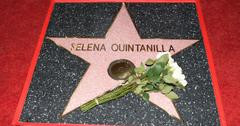 Selena's star on Hollywood Walk of Fame