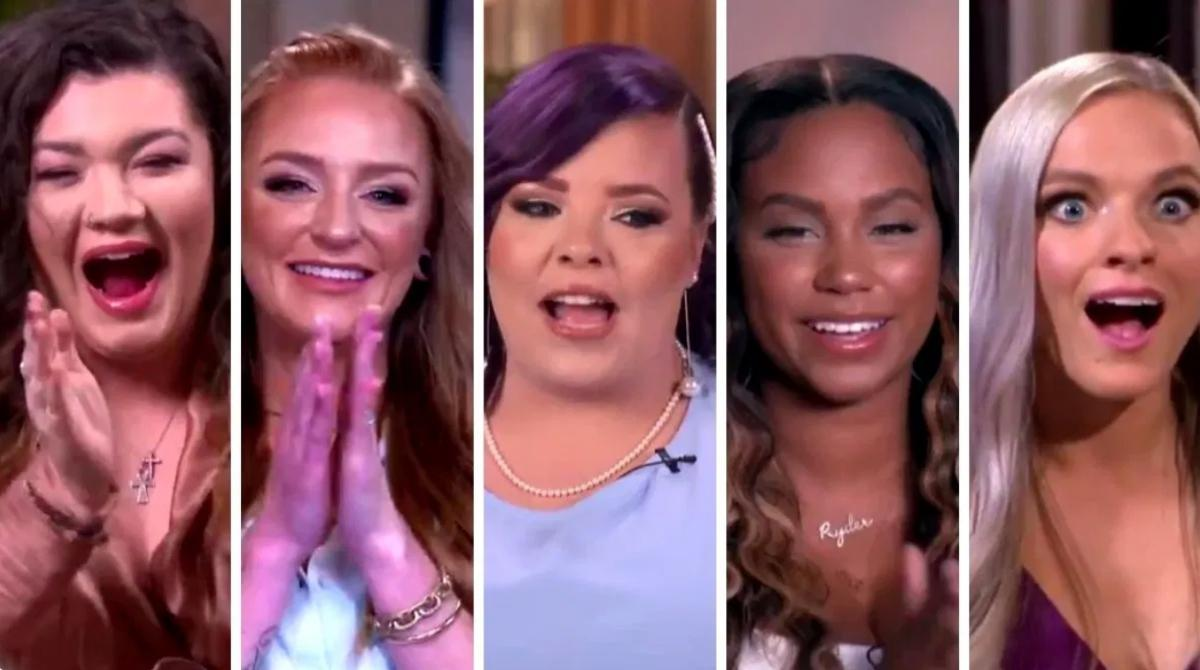 The cast members of Teen MOM OG on the reunion special.