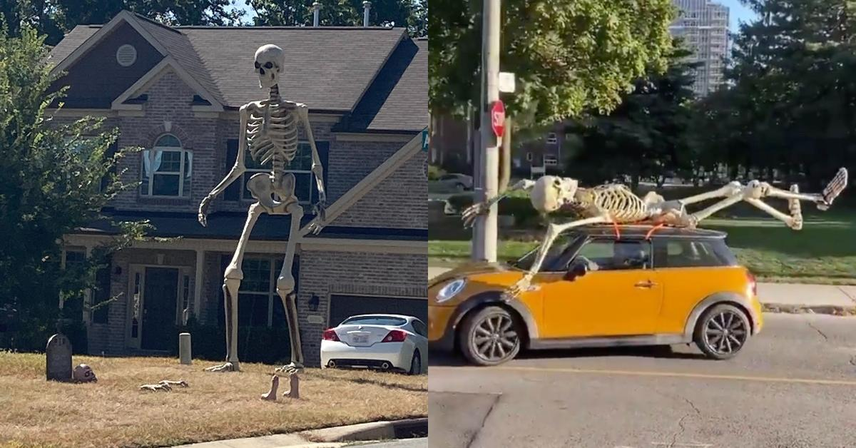 This 12 Foot Tall Skeleton From Home Depot Is The Official Halloween Mascot Of 2020