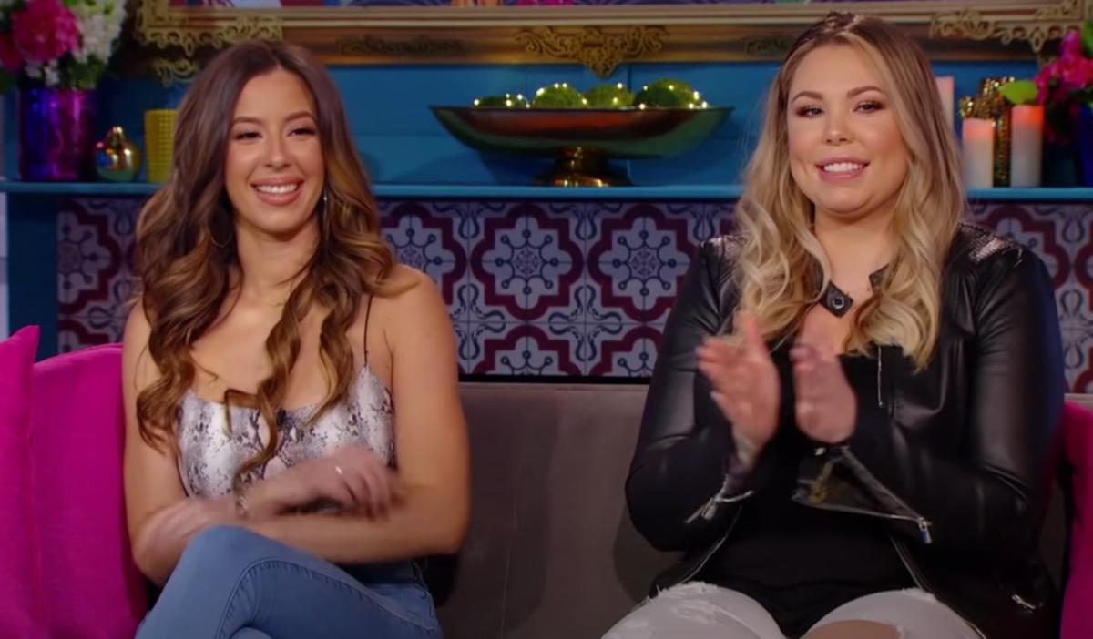 Kailyn and Vee at the Teen Mom 2 Reunion in New York.