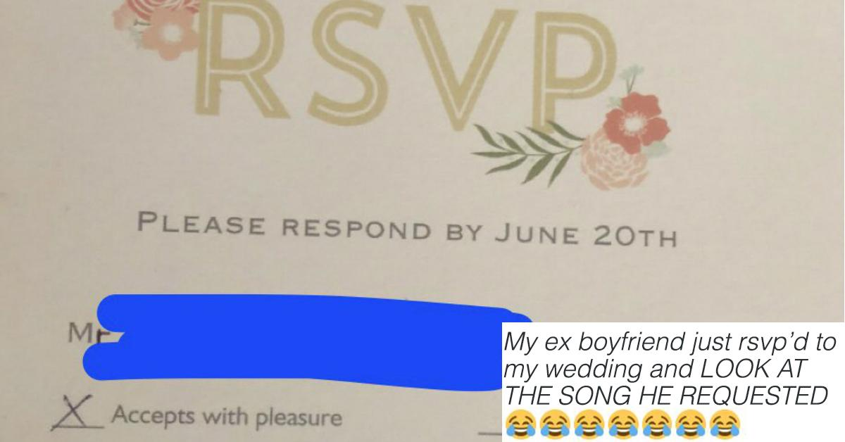 Woman Invites Her Ex to Her Wedding and His Song Request Is Perfect