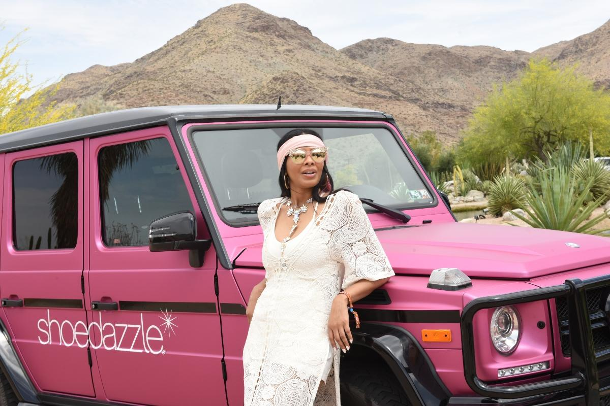 Vanessa Simmons attends ShoeDazzle's Dazzle in the Desert.