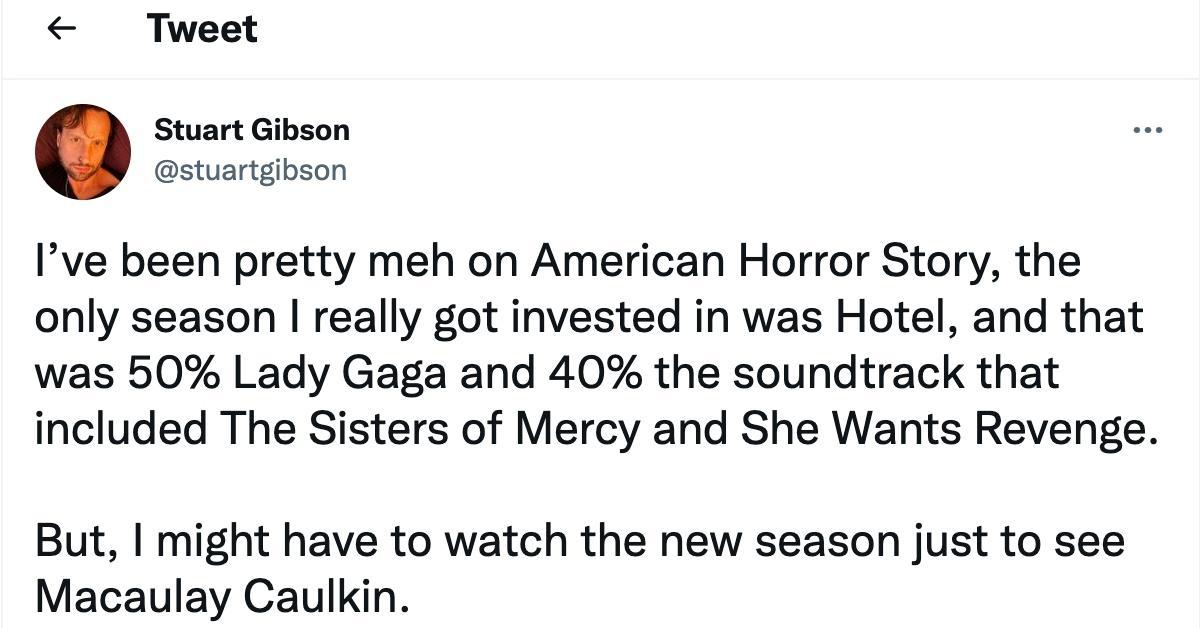Tweet about Macaulay Culkin