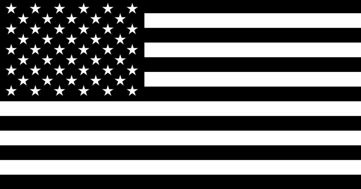 black us american flag