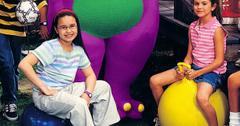 Demi Lovato and Selena Gomez on Barney