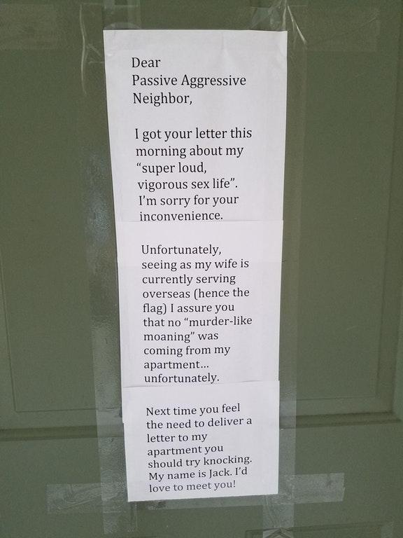 These Passive-Aggressive Notes From Neighbors Are Savagely