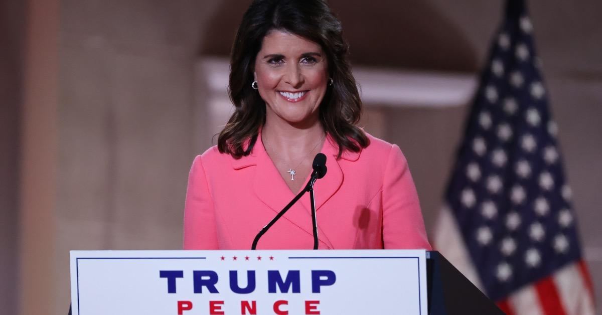 Nikki Haley poses for a photo.