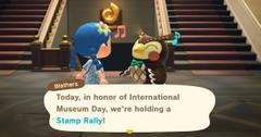 museum stamp rally animal crossing