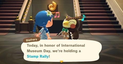 museum stamp rally animal crossing