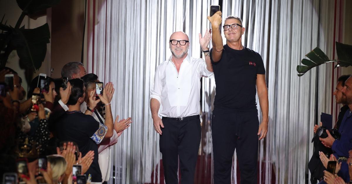 (L-R): Domenico Dolce and Stefano Gabbana.