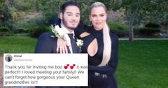 Khloé Kardashian and prom date
