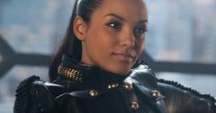 Jessica Lucas on the set of 'Gotham'.