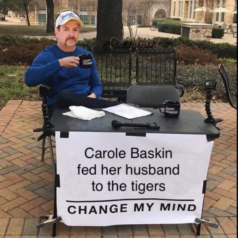 These Carole Baskin Memes Are The Cat S Meow Check Them Out Here >mfw i don't get dubs. these carole baskin memes are the cat s