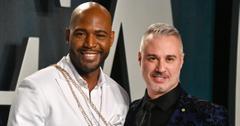 Karamo Brown and Ian Jordan pose for a photo.