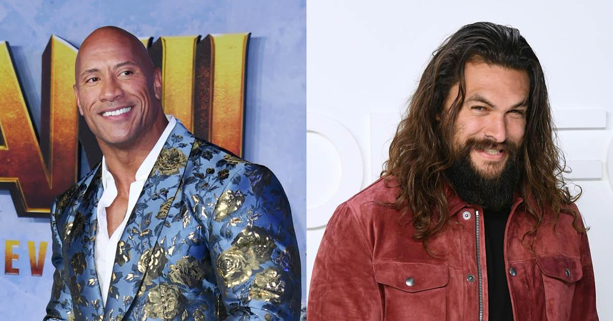 "Dwayne ""The Rock"" Johnson and Jason Momoa"