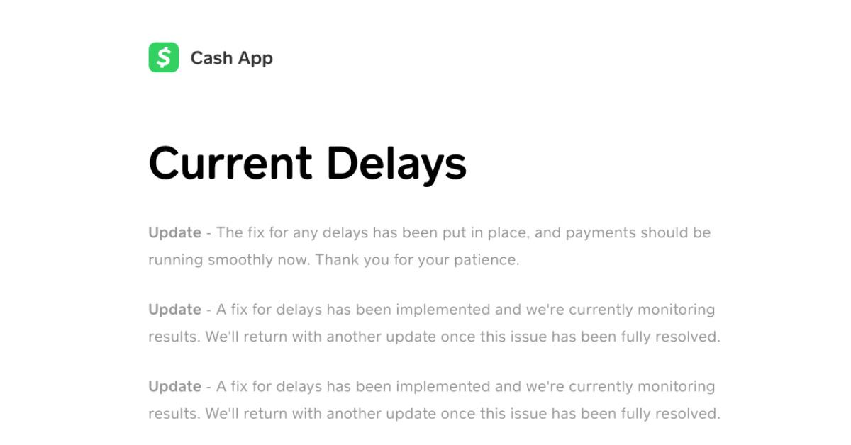 why is my cash app pending status
