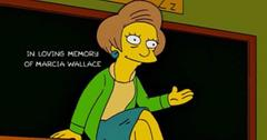 Mrs. Krabappel during her final episode on 'The Simpsons'.