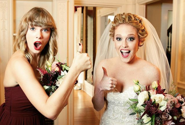 taylor swift abigail bridesmaid