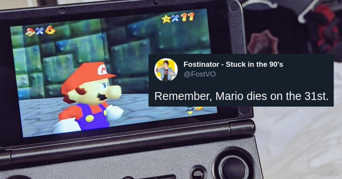 游戏玩家说马里奥在3月31日死亡:这就是为什么